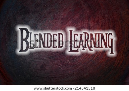 Blended Learning Concept text on background