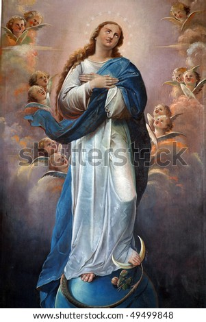 Blessed Virgin Mary - stock photo