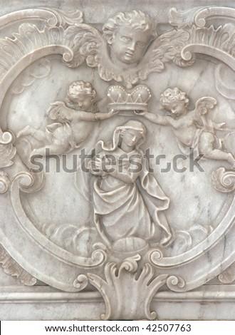 Blessed Virgin Mary Queen of Heaven - stock photo