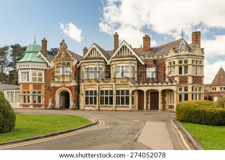 Bletchley Park in Buckinghamshire the code breaking location in WW2  - stock photo