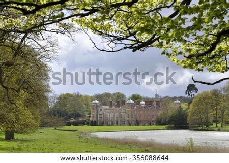 Blickling Hall stately home on the Blickling Estate in Norfolk, UK. - stock photo