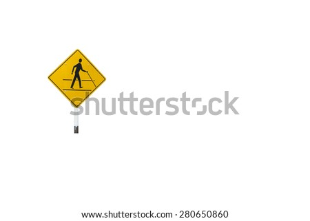 Blind disabled Warning sign  isolated with clipping path - stock photo