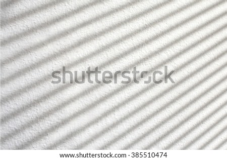 Blind shadow on white background - stock photo