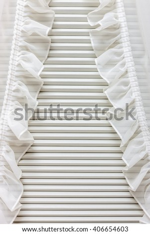 Blinds window decoration in bedroom interior
