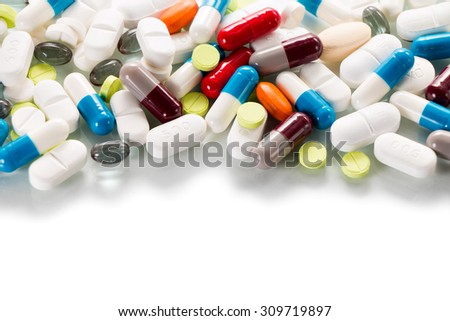 Blister of tablets isolated on a white background