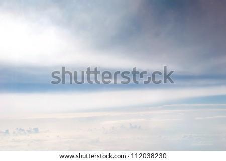 blizzard in winter - stock photo