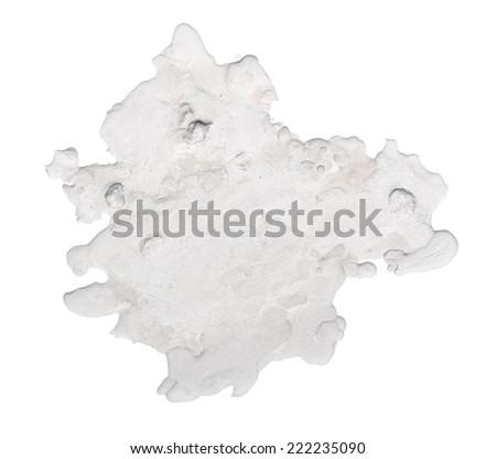 Blob isolated on white - stock photo