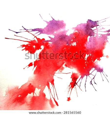 Blob, watercolor - stock photo