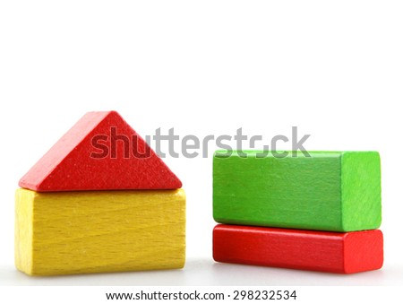 block building - stock photo
