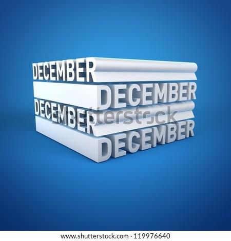 Block Calender DECEMBER - stock photo