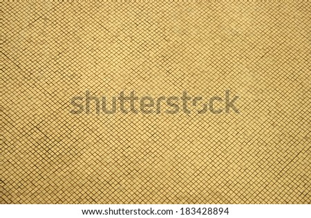 block golden mosaic for background - stock photo