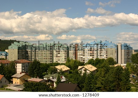 block in capital city in slovenia
