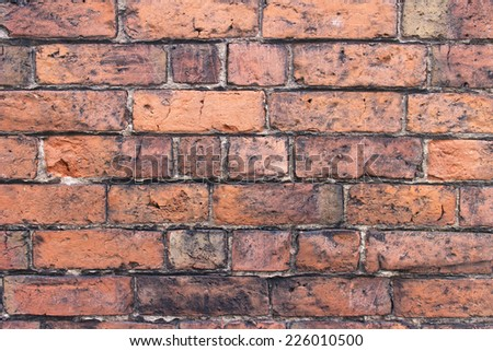 Block wall background - stock photo