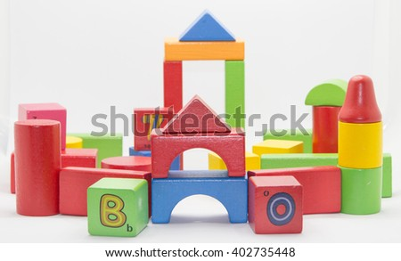 block wood toys for kids play develop imagine and brain