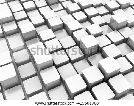 Blocks Background - High Quality 3D Render