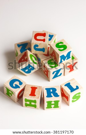 blocks with letters