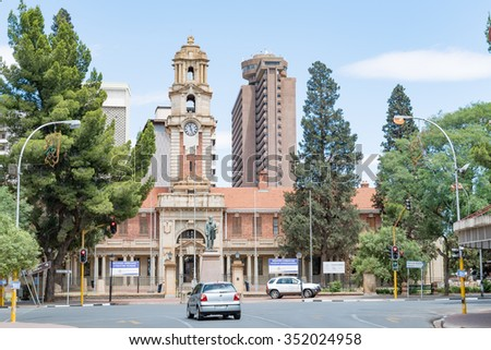 BLOEMFONTEIN, SOUTH AFRICA, DECEMBER 16, 2015: The National Afrikaans and Sotho Literary Museum in Bloemfontein was originally a government building of the Republic of the Orange Free State