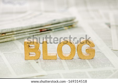Blog - stock photo
