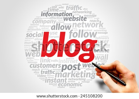 Blog business concept in word tag cloud - stock photo