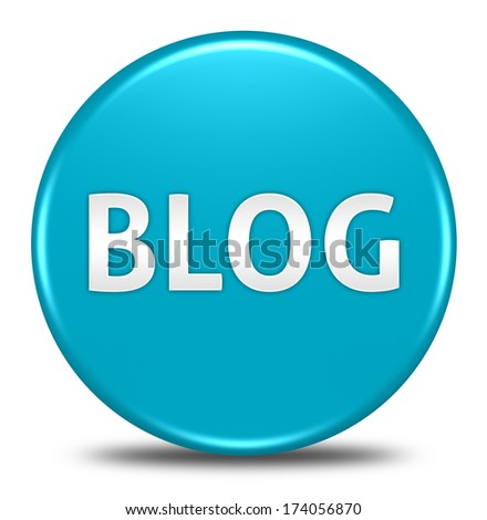 blog button isolated