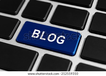 blog button on keyboard, business concept