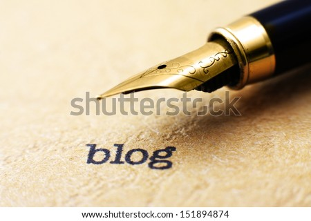 Blog concept - stock photo