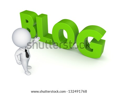 BLOG concept.Isolated on white background.3d rendered. - stock photo