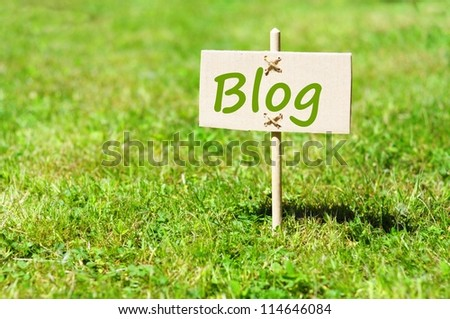 blog concept with word on nature still life - stock photo