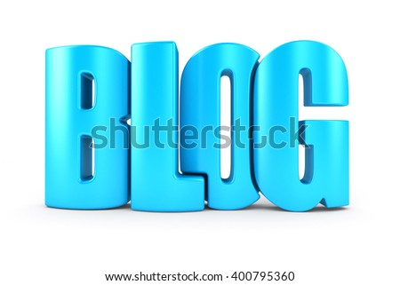 Blog 3d text - stock photo