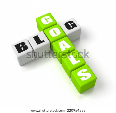 Blog Goals crosswords. Part of a business concepts series. - stock photo
