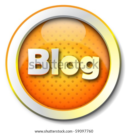 Blog icon - stock photo