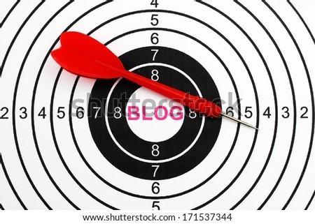 Blog target - stock photo