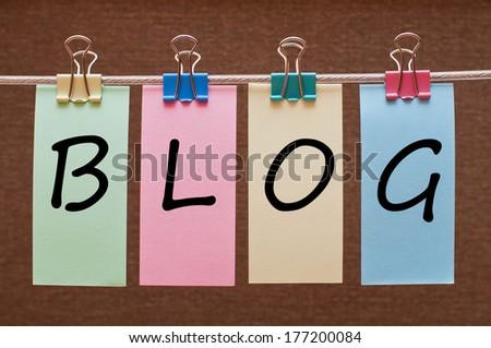 Blog word - stock photo
