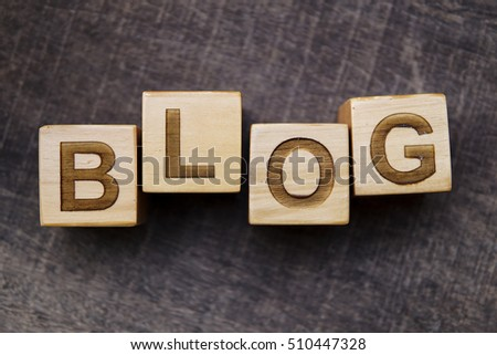 BLOG word made with building blocks