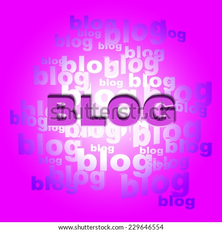 Blog Words Indicating World Wide Web And Website - stock photo