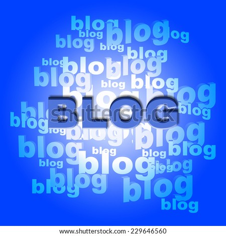 Blog Words Representing World Wide Web And Website - stock photo