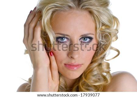 Blond angel - stock photo