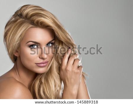 Blond beauty - stock photo