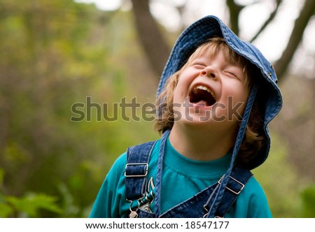 Blond boy are laughing (series Children)
