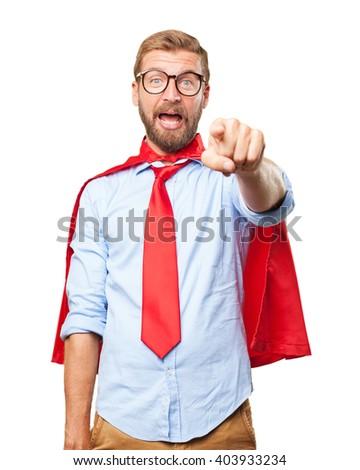 blond businessman surprised expression - stock photo