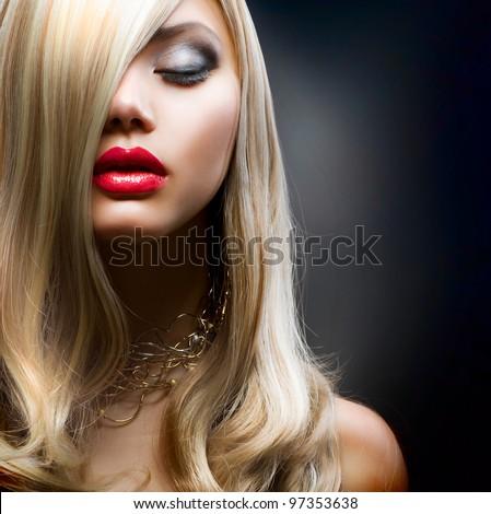 Blond Fashion Girl - stock photo