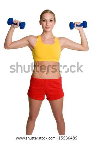 Blond Fitness Woman - stock photo