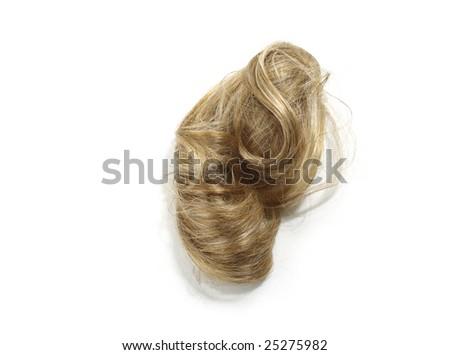 Blond Hair Piece - stock photo