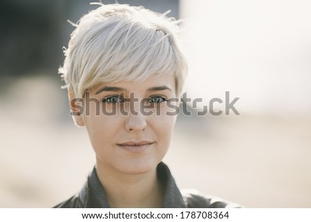 blond young woman - stock photo