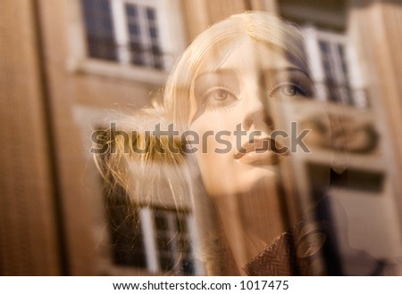 Blonde Female Dummy (Close View) - stock photo