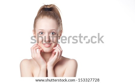 blonde girl - stock photo