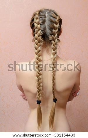 Girl Naked white hair