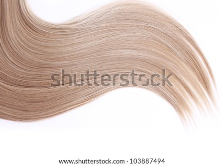 blonde hair isolated on white