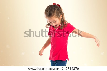 Blonde little girl singing