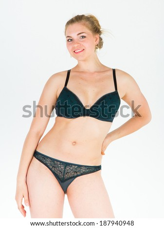 Blonde Model Cute Body  - stock photo
